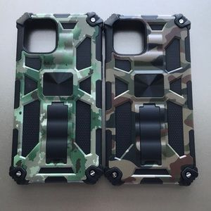 For iPhone 12 Pro Max armor phone case w kickstand